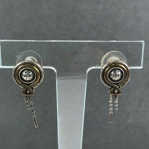 Vintage Chico's silver brass abstract earrings
